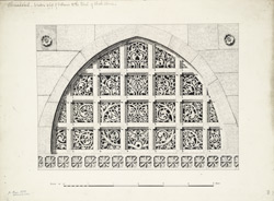Ahmadabad: Window to left of Entrance to the tomb of Shah Alam